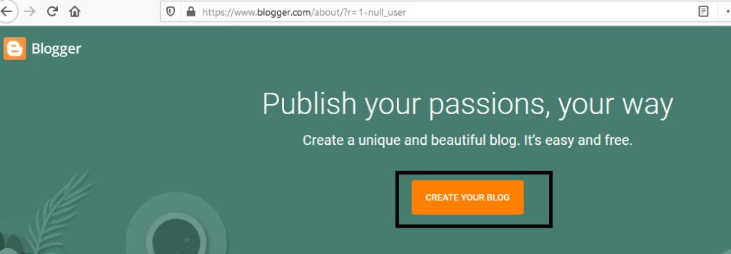 blogger 1st step